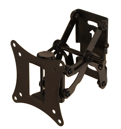 ARM Tilting/Swivel Wall Mount Bracket 12-32'' TVs to 66 lbs,BLK