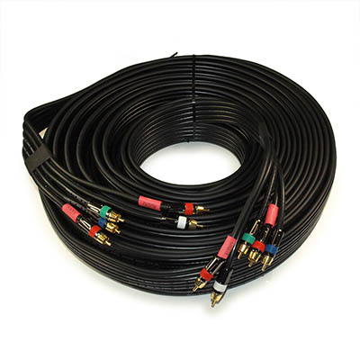 75ft RCA Premium IN-WALL 5-Wire Component Video/Audio Cables Gold Plated