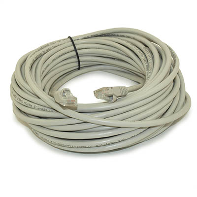 50ft Network Cable/CROSSOVER Cord, 350MHz CAT5E, Stranded Gray