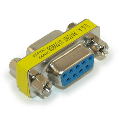 Serial Port Gender Changer (Female/Female) DB9, Nickel Plated