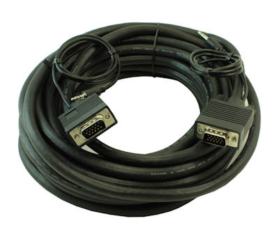 25ft Premium Tri-Shield VGA & 3.5mm Stereo TRS Audio M/M Combo Cable