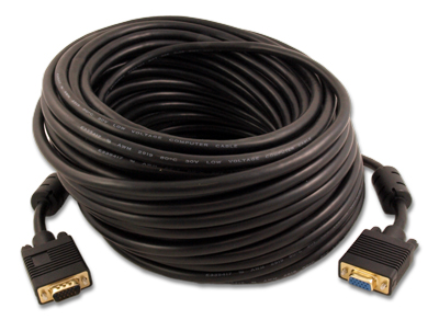 100ft Premium VGA EXTENSION M/F Triple-Shield Cable Gold Plated