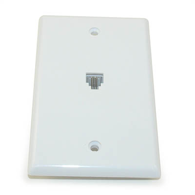 Wall plate: Standard Phone, White