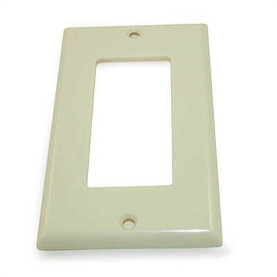 Wall plate: 1 Gang Decor Outer Frame, Ivory