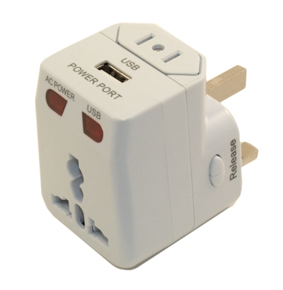 Travel Adapter Kit with Surge Protection and 1Amp USB Charger