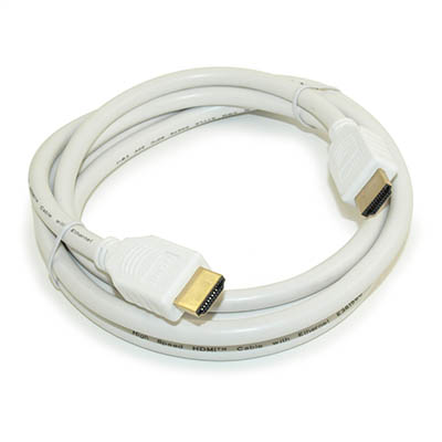 6ft HIGH-SPEED HDMI  10.2G 28 AWG Gold Plated, WHITE