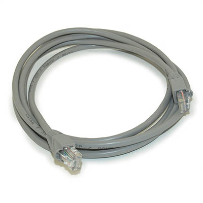 7ft Network Patch Cord, CAT5E Stranded, Gold Plated, GRAY