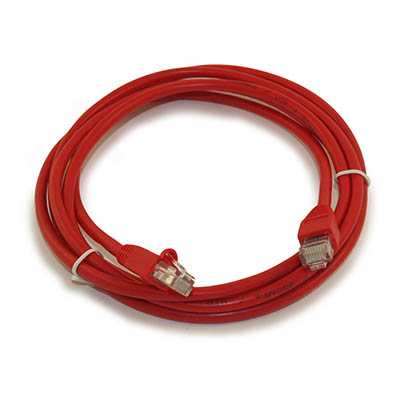 7ft Network Patch Cord, CAT5E Stranded, Gold Plated, RED