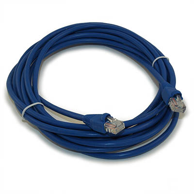 14ft Network Patch Cord, CAT5E Stranded, Gold Plated, BLUE