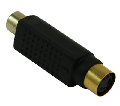 S-Video (4-Pin) Female to RCA/Composite Female Adapter, Gold Plated