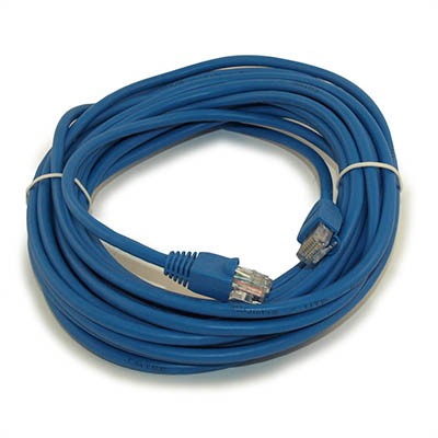 25ft Network Patch Cord, CAT5E Stranded, Gold Plated, BLUE