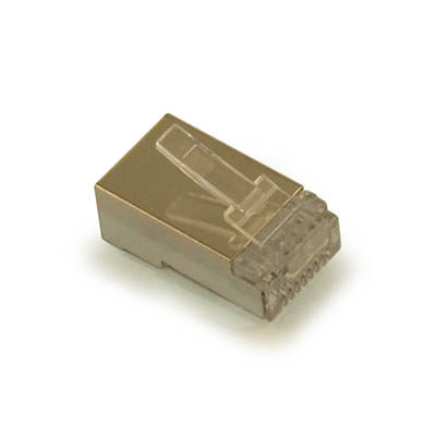 RJ-45 Modular Plugs for CAT6 **SHIELDED** Wire, Pkg of 100