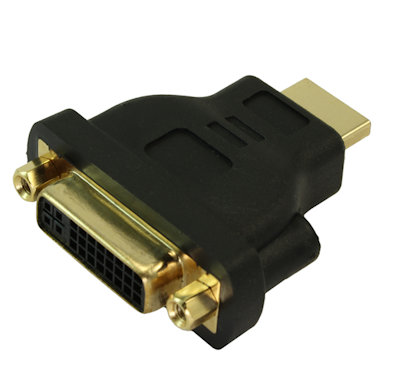 DVI-D Female to HDMI Male Adapter, Gold Plated