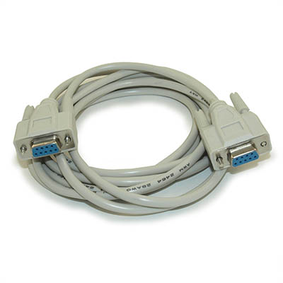 10ft Serial, DB9/DB9 Female to Female Straight-Thru Cable