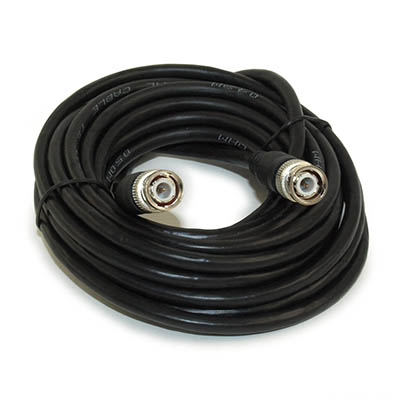 20ft BNC Plug RG59/Coax Cable, Male to Male, Nickel Plated