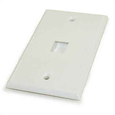 Wall plate: Keystone, 1 Hole - White