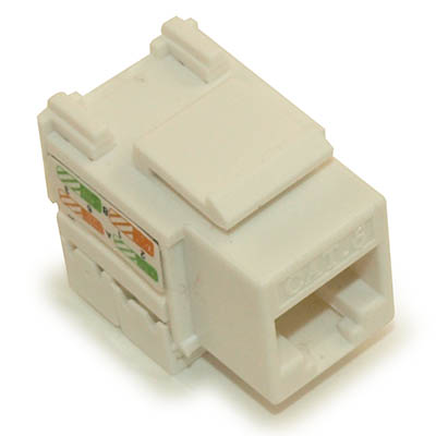 Wall plate: Keystone Jack - Cat 6 RJ-45 Punchdown Networking, White