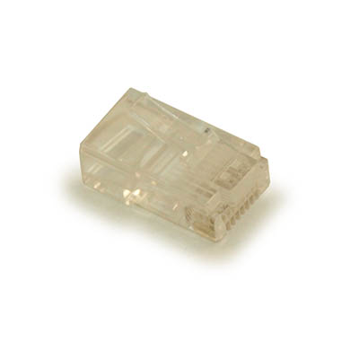 RJ-45 Modular Plugs for CAT5/CAT5E Solid Wire, Pack of 100