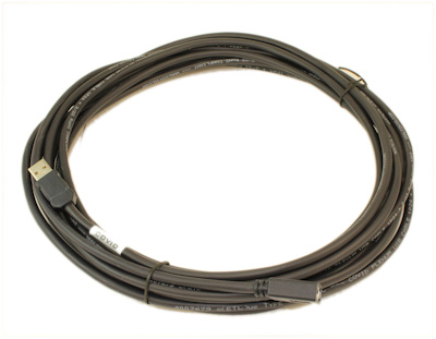 25ft USB 2.0 (ACTIVE) PLENUM Type A Male to A FEMALE Cable, Black