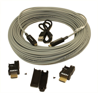 98ft PLENUM Ultra 4Kx2K/60Hz 4:4:4 HDMI 18Gb Fiber Optic/Hybrid Cable