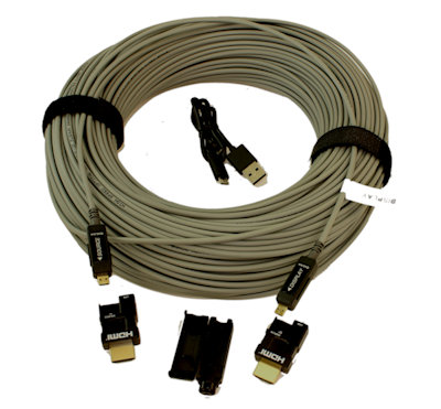 328ft PLENUM Ultra 4Kx2K/60Hz 4:4:4 HDMI 18Gb Fiber Optic/Hybrid Cable