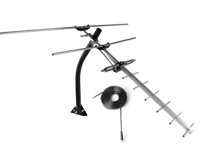 HDTV Off-Air UHF/VHF Antenna, Compact, Roof/Attic Mount, up to 40 Miles
