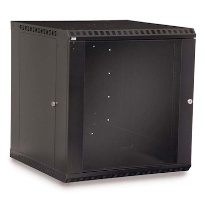 12U Wall Mount Cabinet 23inches Deep with Glass Door