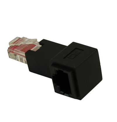 RJ45 CAT6 Ethernet RIGHT FACING Angle Adapter Male/Female