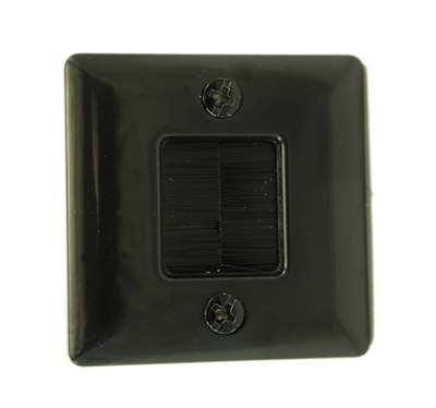 Wall plate: 1 3/4 INCH Hole Saw Plate with Brushes, Black