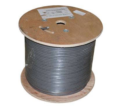 1000ft CAT6 Bulk Network Cable, STP/FTP 550Mhz SHIELDED PLENUM Solid, Grey