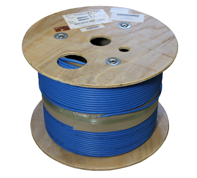 1000ft CAT6A Bulk Network Cable, STP/FTP 550Mhz 10Gbits SHIELDED, Blue