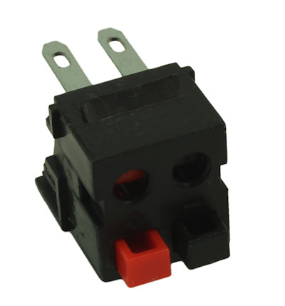 Wall plate: Keystone Jack Dual Speaker w/Rear Crimp Block 14-30AWG, Black