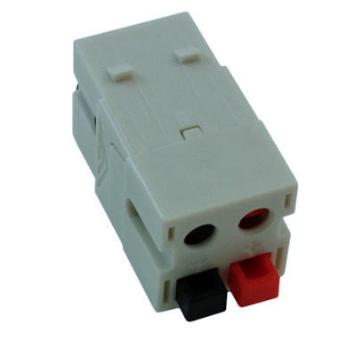 Wall plate: Keystone Jack Dual Speaker DUAL Crimp Block 14-30AWG, White
