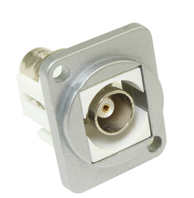 Wall plate: BNC Female D-Series Panel Mount Connector, Metal