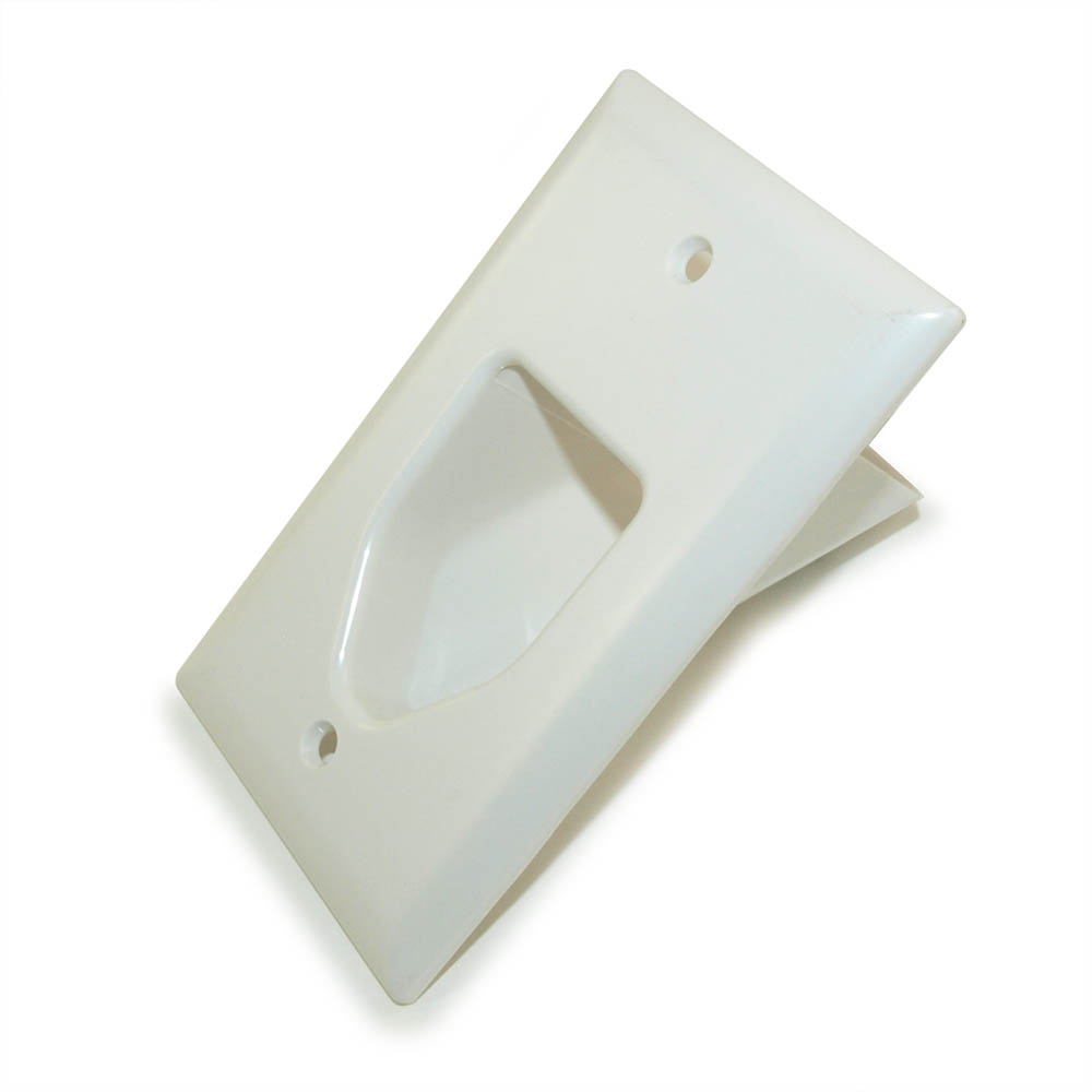 Wall Plate Cable Pass Through : My cable mart wall plate single gang recessed
