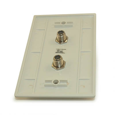 Wall plate: 2 F/Type Coax Connectors, White